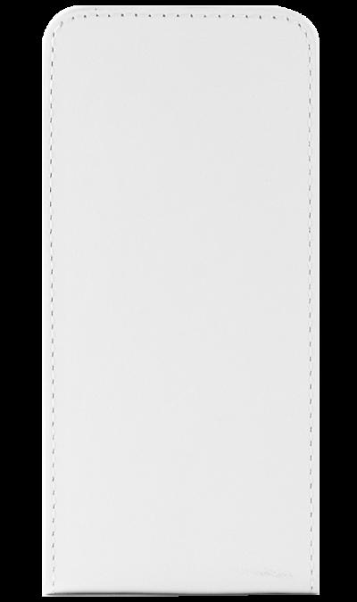 Чехол-книжка OxyFashion вертикальный для Apple iPhone 5, кожзам, белый (на присоске)