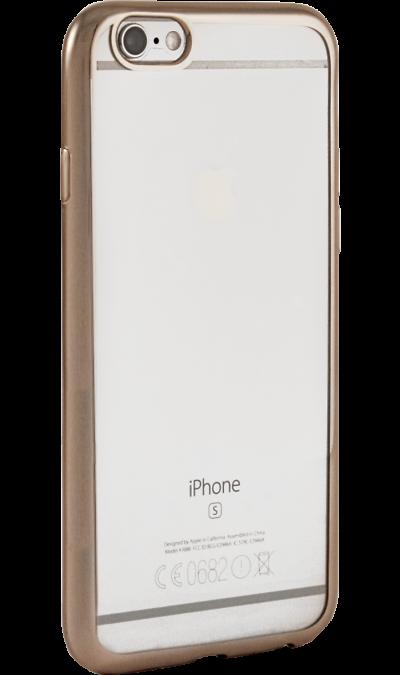 Чехол-крышка Gresso для Apple iPhone 6/6S, силикон, золотистый (с рамкой)