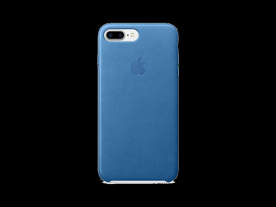 Чехол-крышка Apple для Apple iPhone 7 Plus, кожа, голубой