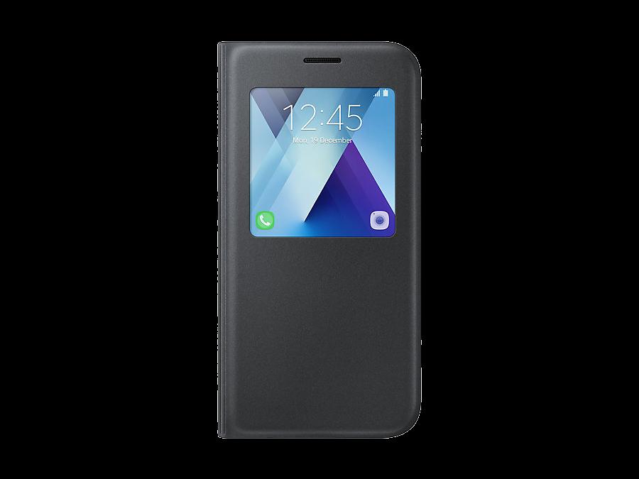 Чехол-книжка Samsung для Samsung Galaxy A5 (2017), полиуретан, черный