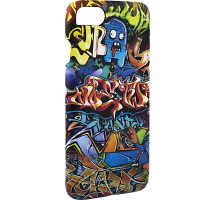 Чехол-крышка i-Paint GRAFFITI для Apple iPhone 7/8, пластик, узор